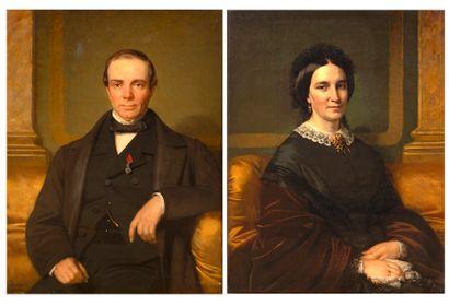 Alexandre ROBERT (1817-1890) Portrait d'un...