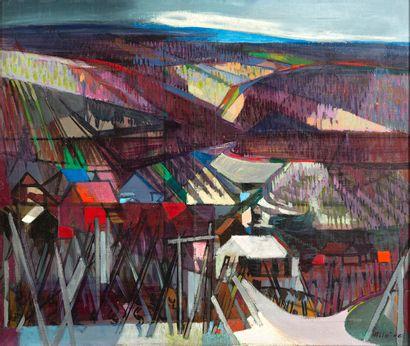 Camille HILAIRE (1916-2004) Vue de Riquewihr...