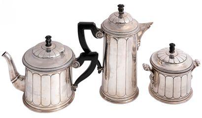 Altenloh Service à café en argent 950/1000èmecomprenant...