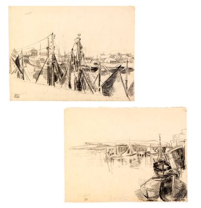 Willem PAERELS (1878-1962) Port (probablement...