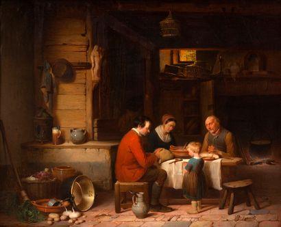 Charles VENNEMAN (1802-1875) Le repas des...