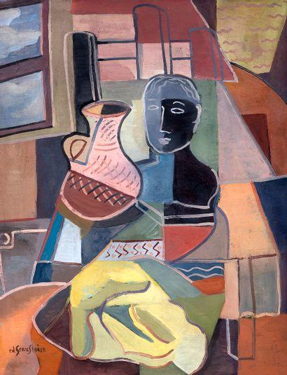 Edgar SCAUFLAIRE (1893-1960) Nature morte...
