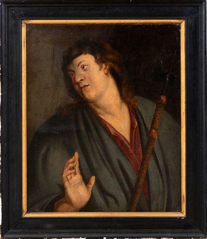 École flamande ou vénitienne, début XVIIe siècle Portrait d'un hallebardierou...