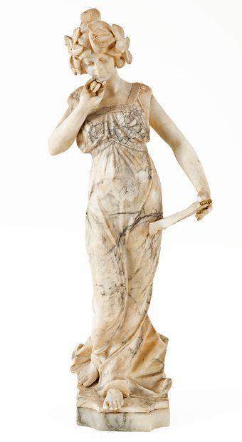 Anonyme, début XXe siècle Jeune fille à la...
