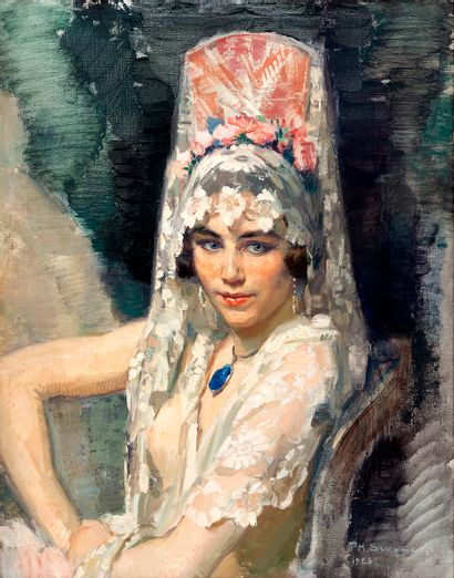 Philippe SWYNCOP (1878-1949) La belle espagnole...