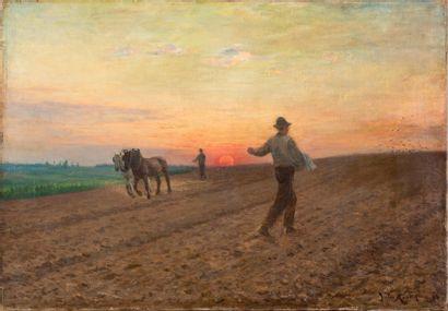 Jules Léon MONTIGNY (1847-1899) La semence...