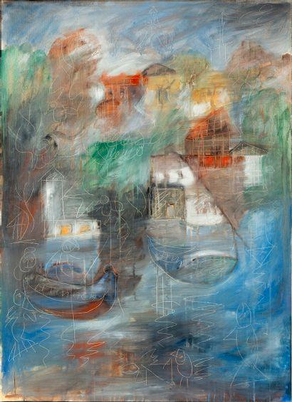 Ali ATMACA (1947) Sans titre Huile sur toile...