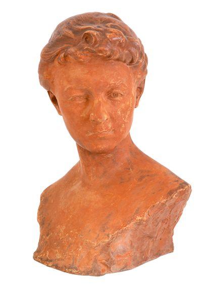 Georges PETIT (1879-1959) Buste de jeune...