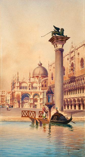 Umberto ONGANIA (1860-1896) Vue de la Place...