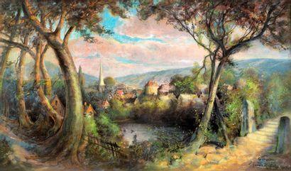 Edmond ROBERTY (XIX-XX) En Picardie , 1903...