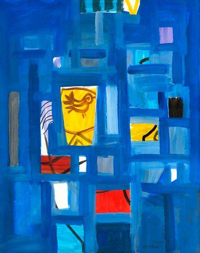 Ali ATMACA (1947) L'oiseau , 1999 Gouache...