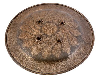 Bouclier indo-persan,gravé à l'acide de...