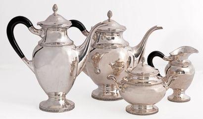 Service à café et à thé de style Empire en...