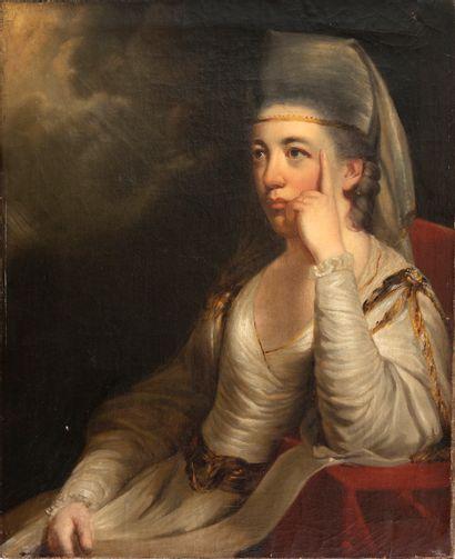 École romantique, fin XVIIIe siècle Portrait...