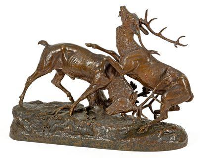 Clovis-Edmond MASSON (1838-1913) Combat de...