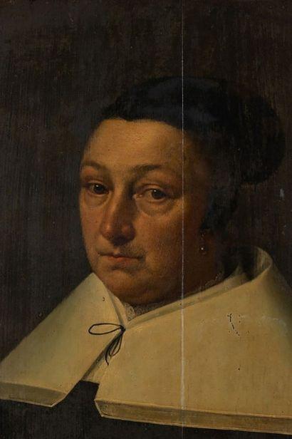 Attribué à Jan de BRAY (Haarlem, vers 1627 - Amsterdam, 1697) Portrait d'une femme...