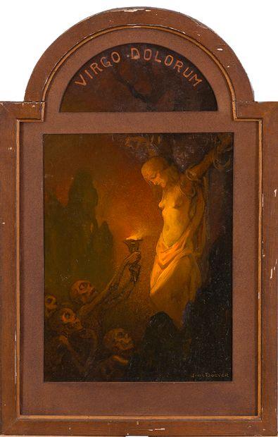 Jan Frans DE BOEVER (1872-1949) Vierge des...