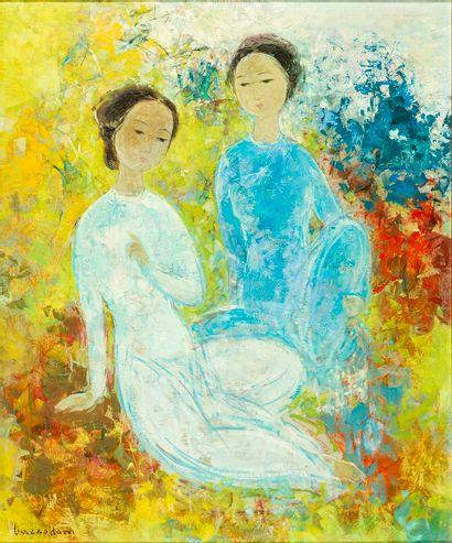 VUCao Dam(1908-2000) Deux femmes assises...