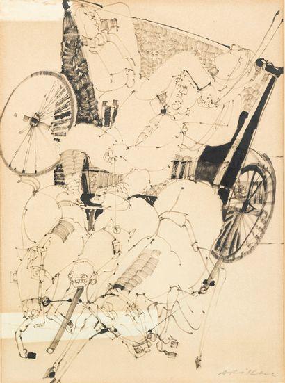 Avigdor ARIKHA (1929-2010) Calèche au galop...