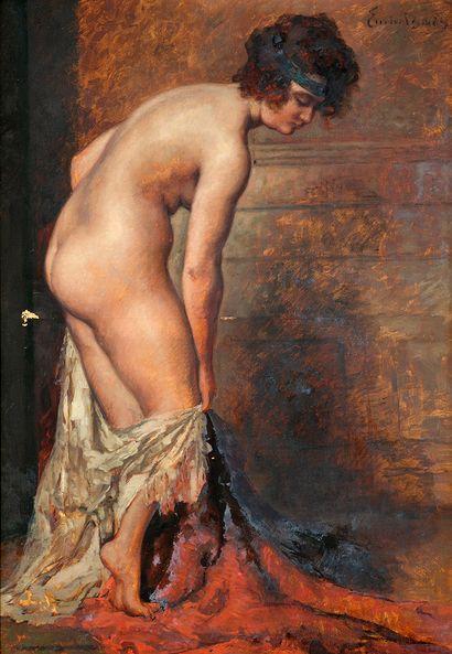 Emile BAES (1879-1954) Femme nue au drapé...