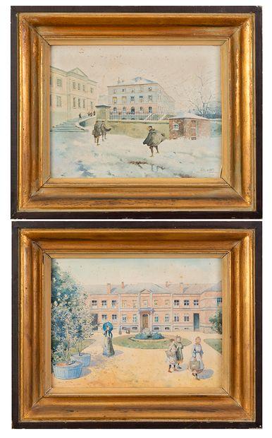 Nestor OUTER (1865-1930) La Louvière et...