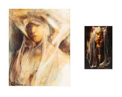 René PELOUSSE (1917-1977) Phénicie et Portrait...