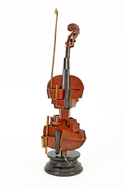 Fernandez ARMAN (1928-2005) Violon cubiste...