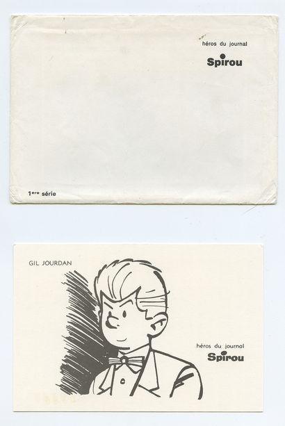 "Spirou : Cartes postales des héros du journal Spirou des années 60 : 8 cartes "" héros..."