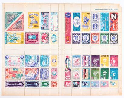 Spirou : Feuillet de timbres des héros du Journal Spirou en supplément du magazine...