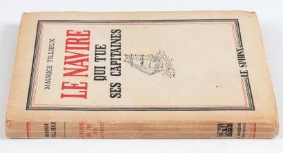 """Tillieux : Roman """" Le Navire qui tue ses capitaines """" (Ed. de Liège, coll. Le Sphinx,..."""