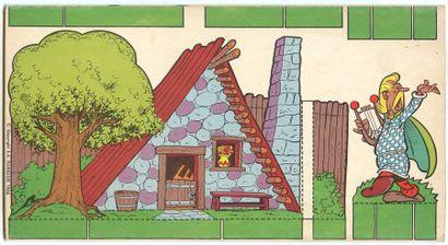 """Astérix : Livret en carton """" Découpage - Astérix le gaulois """" (Ed. Jesco, 1966, Réf...."""