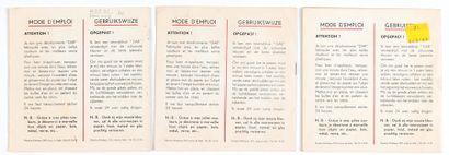 Décalcomanies : Ensemble de 3 livrets de décalcomanie (années 60) : Chick Bill...