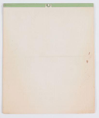 Calendrier : Calendrier Scout (F.S.C.) de 1958 avec des illustrations de Mitacq (sans...