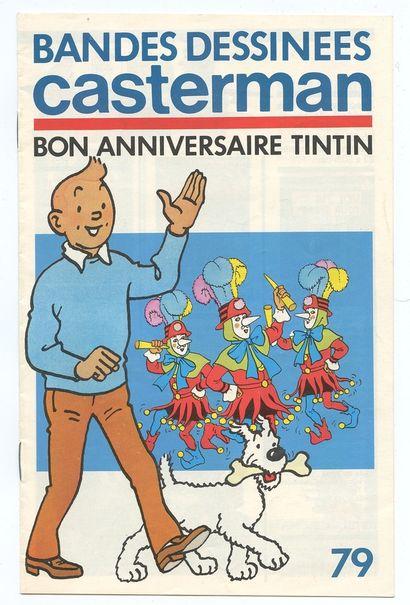 Casterman : Ensemble de 5 catalogues éditeur : 1965 (dos taché, feuillets volants),...