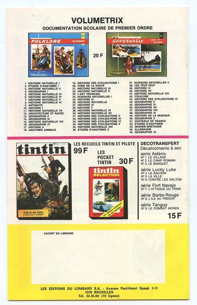 Lombard : Ensemble de 2 catalogues éditeur : 1973-1974 et 1974-1975. Très très bon...