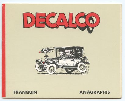 Franquin : Carte de visite du journal et des éditions Dupuis représentant Spirou...