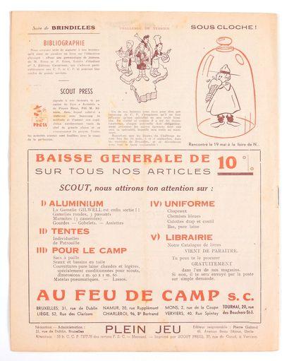 Franquin : Revues Plein-Jeu n°11 de mai-juin 1946, n°15 de janvier-février 1947...