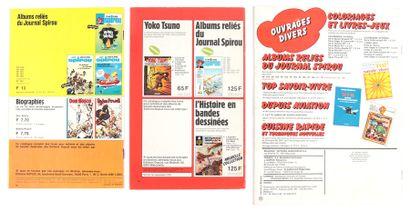 Dupuis : Catalogues éditeur de 1973, 1975 et 1984. Très très bon état (1984 plats...