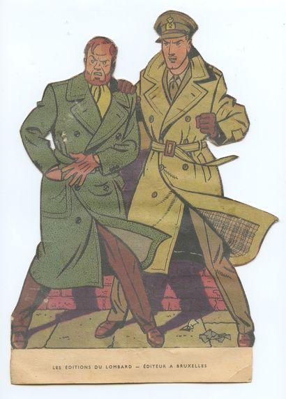 Blake et Mortimer : PLV publié aux Editions du Lombard dans les années 50. Rare....