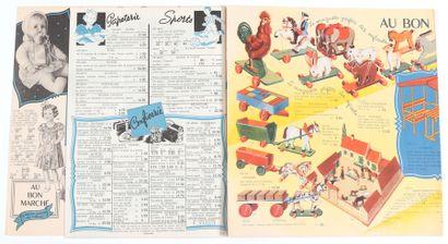 Jacobs : Au bon marché , catalogue de jouets d'avant-guerre de 1936, illustré en...