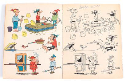 Dupuis : Albums à colorier : couverture de Morris (série 2 n°202 de 1963) et couverture...