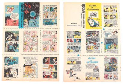 Spirou : 2 mini-récits non montés du Journal Spirou : Histoire de l'automobile (supp....