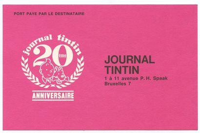 Tintin : Fascicule publicitaire de 1966 pour le 20e anniversaire du journal (Ed....
