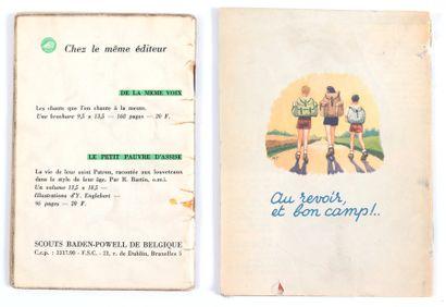 Mitacq : Carnet du louveteau F.S.C. de 1948 et petit fascicule En Route ! de 1955....