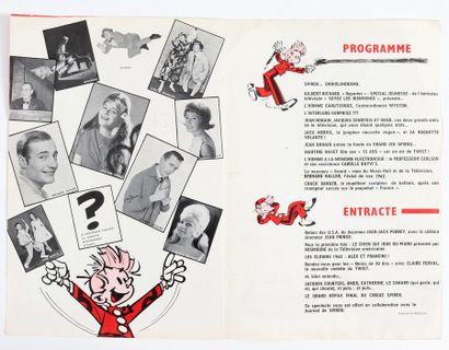 """Spirou : Programme du Cirque Spirou de 1963 """"Spirou présente son grand cirque des..."""