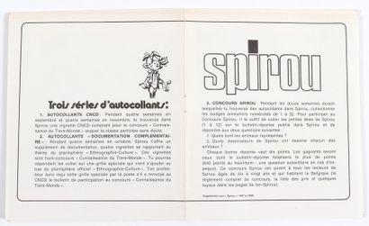 Spirou : Ensemble de 12 autocollants (double volets), suppléments du Journal Spirou...
