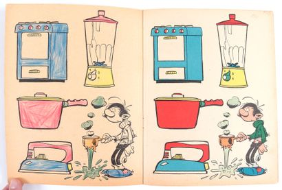 Dupuis : Albums à colorier : couverture de Franquin (série 2 n°201 de 1963) et couverture...