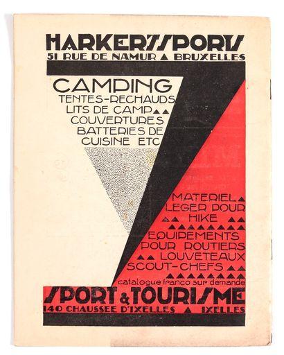 """Hergé : Fascicule """" Le Boy-scout Belge """" de mai 1932 (11e année). Comprenant 2 planches..."""