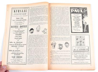"""Hergé : Hebdomadaire """" Pourquoi Pas ? """" n°2105 du 3 avril 1959, Tintin à 30 ans...."""