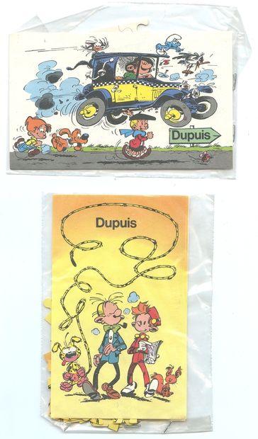 """Dupuis : Puzzles promotionnels Dupuis : """" Spirou et ses amis """" et """" Les Héros du..."""